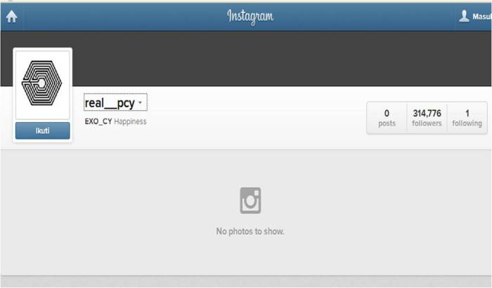 chanyeol's instagram